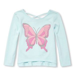 NWT Children's Place Butterfly Shirt Top 18-24mo